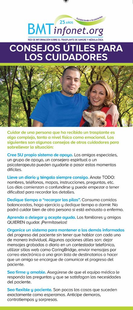 Spanish Caregiver Rack Card