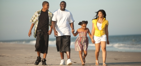Thomas Goode walking with kids